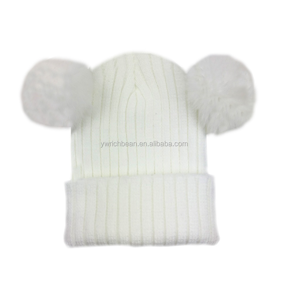 Fashion children knitted hat capTop crochet baby hat baby Accessories Baby winter Knit hats