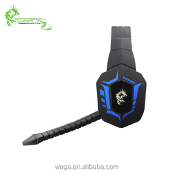 Good quality logo custom fiber cable vibration LED cancel noise 5.1 virtual PC corded wired gaming headset