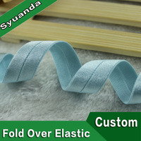 Spandex Polyester Custom Color Shiny Bias Binding Elastic Tape