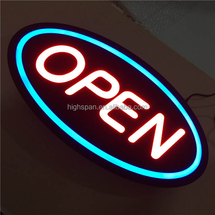 high brightness mini programmable barber shop led open sign