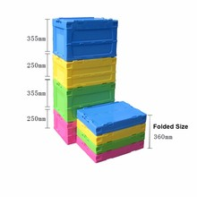 Easily folded plastic big nestable boxes storage collapsible bins and crate