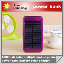power bank 4000mAh for iphone/smartphone, 4000mah solar power bank charger