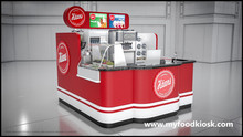 2017 Best selling custom made creative 3D ice cream kiosk design