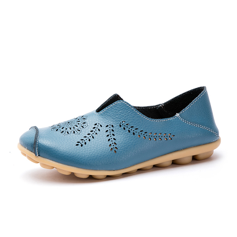 Explosion models foreign <strong>trade</strong> large size hollow women's shoes leather casual peas shoes