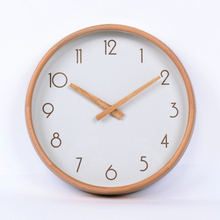 DM-21 Simple Design Wooden Clock Hands Decorative Clock Wall Wall Mounted Clock with Young Town Movement