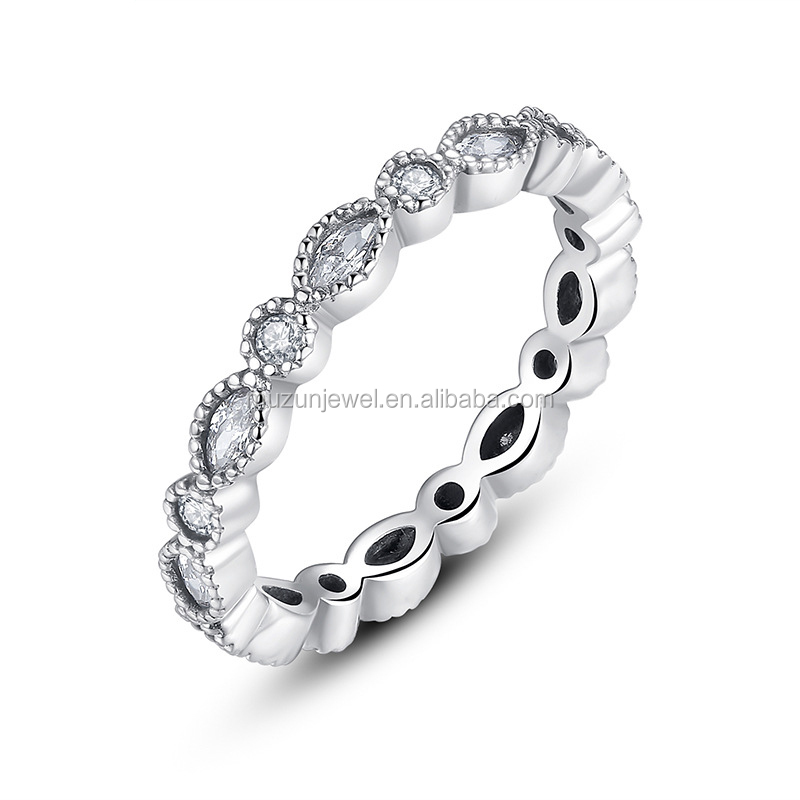 Fashion desgin 925 Sterling silver Cubic Zircon stackable <strong>ring</strong>