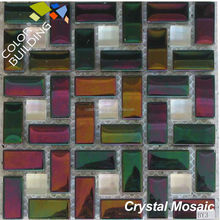 red rainbow glass mosaic tile mixed color metallic glass mosaic tile in beautiful design