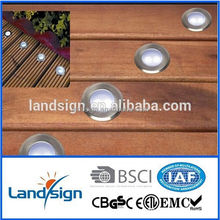 LED Deck Light Kit Recessed Wood Decking Stairs Outdoor Garden Yard Patio LED Lighting Warm White Lamp