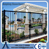 High security hot galvanized welded tubular wrought iron fence/Welded wrought iron spikes wall fence