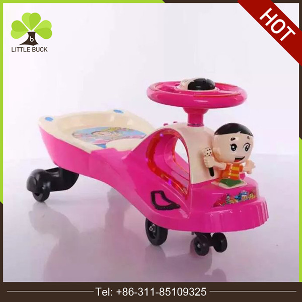 Baby swing twist car/Cheap wiggle car toys for kids with music and light/children swing car ride on toys