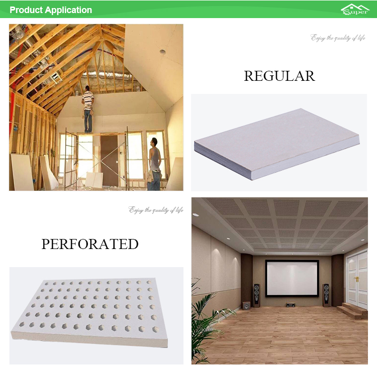 Homeshield Perforated Gypsum Ceiling Tiles