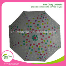 17''*8k*8mm Auto Open Change Color Dot Straight Umbrella for Kids