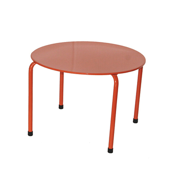 Metal Stackable Round Side Low Table