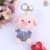 AN025 Plush Keychain Super Cute Little Pig Keychain Decorations Gifts with bell