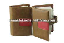 leather Hardcover Diary spiral organizer planner aganda pp cover with pen pu with calendar notebook