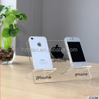 i phone display stand _ removable transparent acrylic mobile phone display holer
