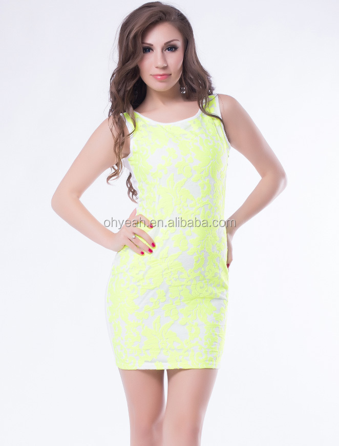 Bright green party prom dress lady dress
