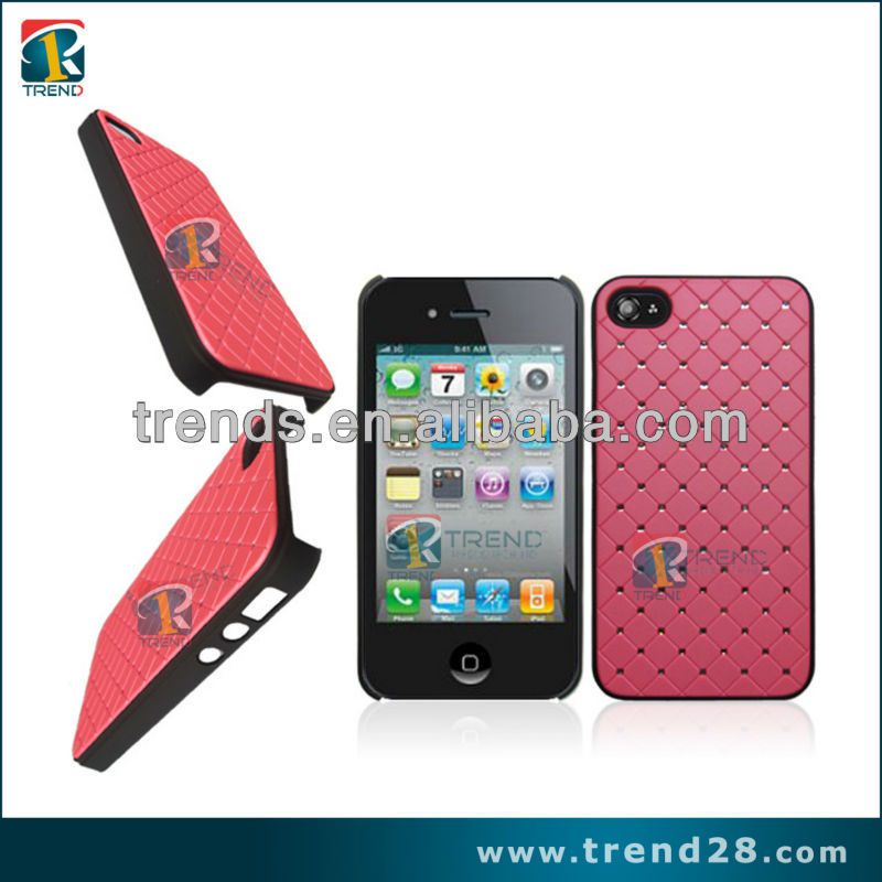 mobile phone accessory leather sticker design case for iphone 4