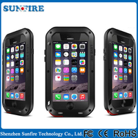 Waterproof shockproof aluminum case , for iphone case 6 love mei, rugged case for iPhone 6