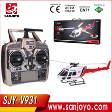 WLtoys V931 2.4G 6CH Brushless Scale Lama Three-Blade Flybarless RC helicopter