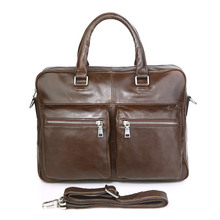 7270C-1 J.M.D Vintage Genuine Leather Business Briefcase Men's Handbag For Man Laptop Bag