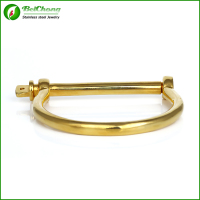 Stainless steel D bangle 18k gold bangle saudi arabia jewelry