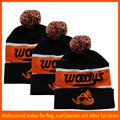 2015 style high quality Custom knitted pom beanie hat
