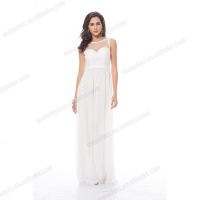 White long evening dress tulle wristband chiffon ruffles long maxi dress hot sale