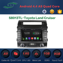 Quad Core 2 Din Android 4.4 Car Dvd Player Autoradio GPS For Toyota Land Cruiser GPS Navigation Audio Stereo Head Unit