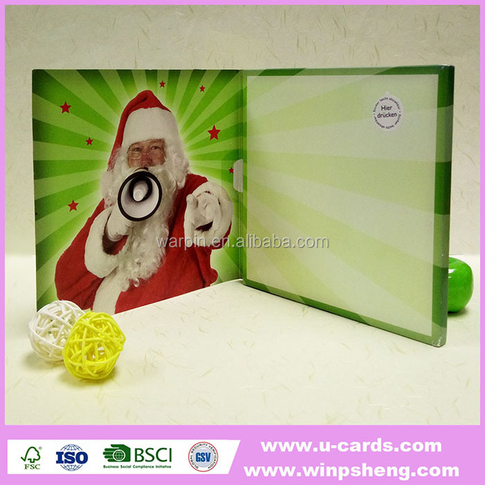 Handmade personalized electronic christmas greeting cards