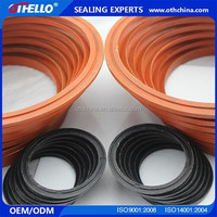 v combined seal ring/ v packing seal set made of ptfe