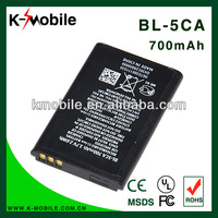 real capacity 700mah battery high quality mobile phone battery BL-5CA for nokia 1110 1112 1116 1208 1600