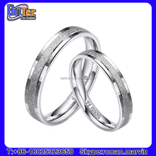 New 925 Sterling Silver Fashion Gay Men Ring Matte Band Ring For Lover