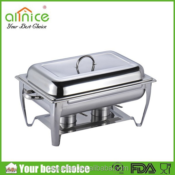 9 Liter Capacity Stainless Steel Chaffing Dish Warming Tray Food Warmer Catering Buffet Food Warmer Pot Deluxe Chafing Dishes
