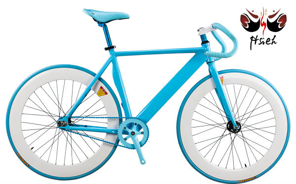 fixed gear bike 700c single speed track bicycle color blue