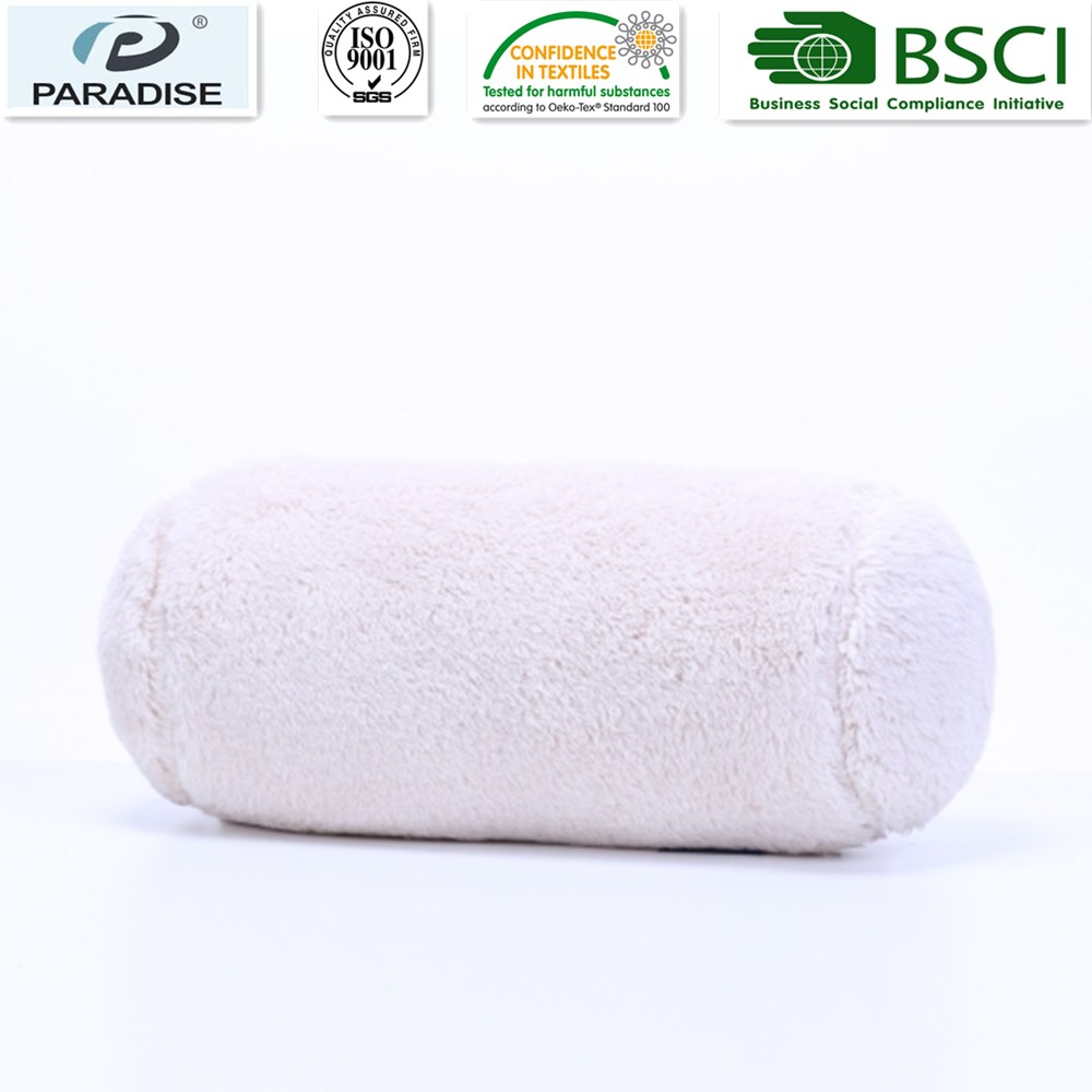 Decorative Extra-Fluffy Fabric In A Log Neckroll Pillow Chino Color