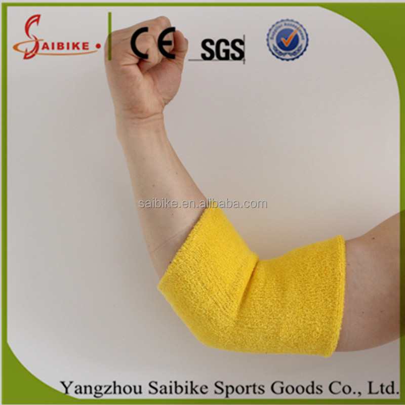 Long cotton warm Sweat absorbent basketball tennis Elbow pads Bracer cuff support protector protect band belt