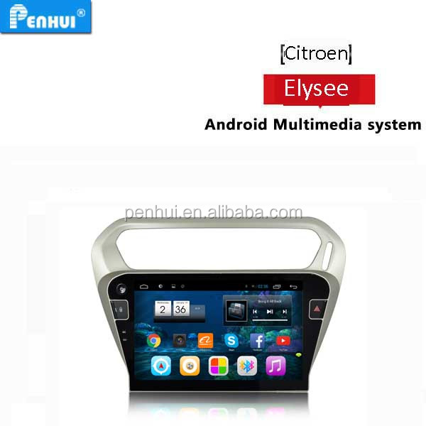 PENHUI Android 4.4 quad core Car PC GPS for Citroen Elysee / Peugeot 301 2015 Support DVR+OBD+3G+Wifi+Radio+16G+Smart Phone+TPMS