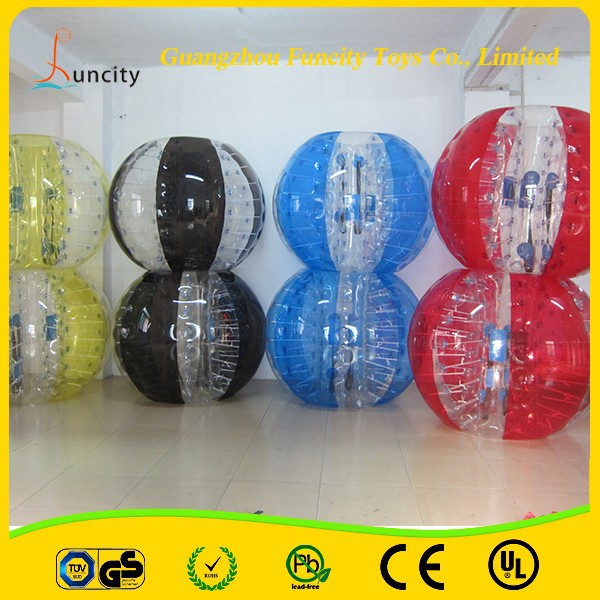 Color and transparent alternating Inflatable Bubble Soccer/Bumper Ball/Outdoor Loopyball