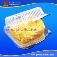 Food grade clear plastic clamshell cupcake dome packaging box