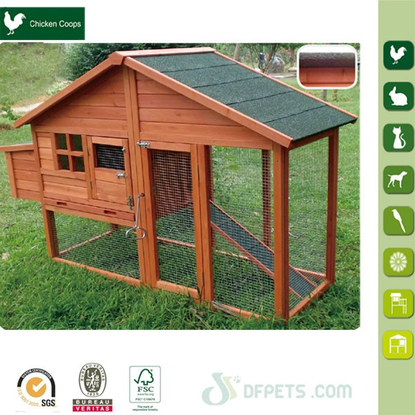DFC1304 Chinese Galvanized Wire Mesh Run Cheap Wooden Chicken Coop
