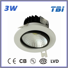 3W LED Downlight ceiling light fixture with pull chain led movable