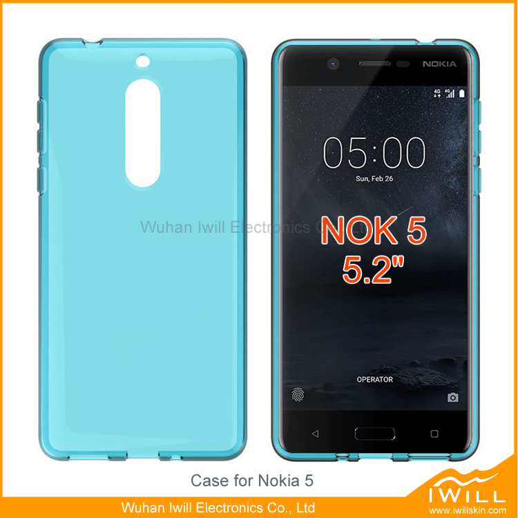 Transparent Ultra Slim Clear TPU Gel Cover For Nokia 5 Case accessory
