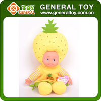 14 Inch fashion fruit baby doll, Fruit doll with music, Baby fruit doll