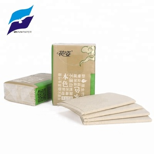 high quality Floral 4 ply bamboo pulp soft facial mini pocket tissue for carry it on