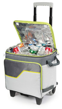 Rolling Thermal Pack Cooler with all terrain Cart