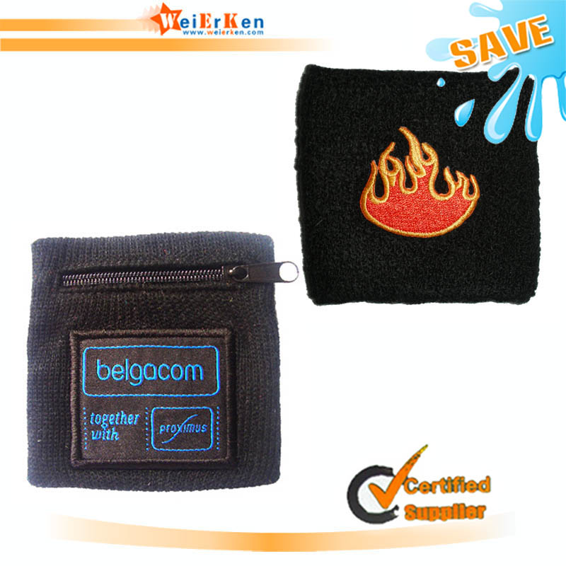 free sample and new design sweat band with logo embroidered