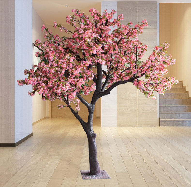 Customized 2.8m artificial cherry blossom tree in wedding decorations wholesale china plastic fake cherry blossom trees