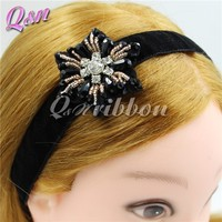 hot selling jewelry headband with rhinestone flower