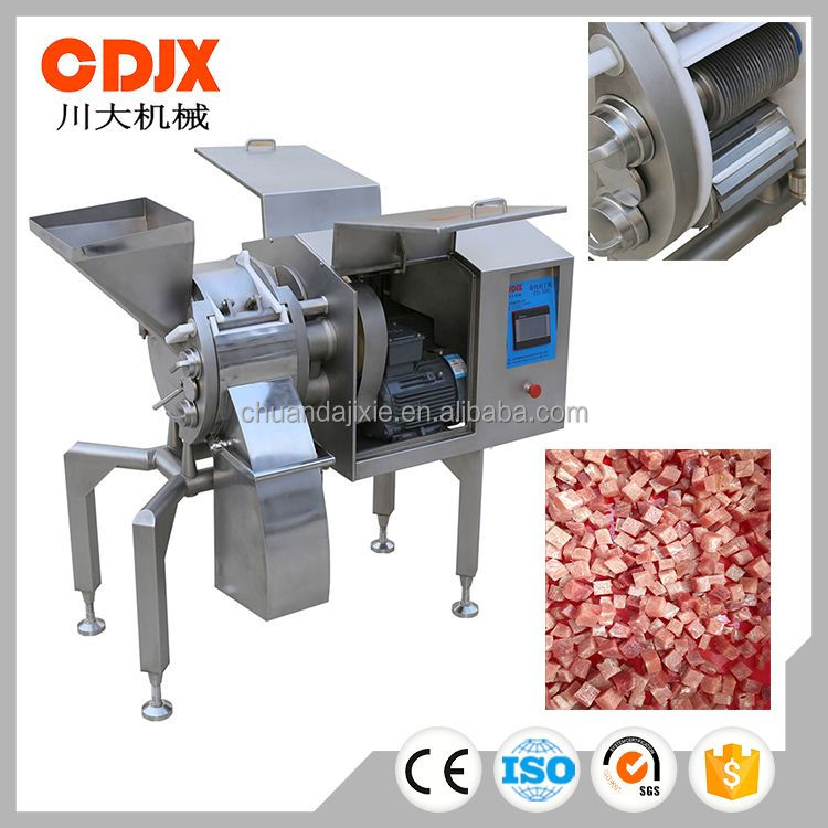 High efficiency hot sales multipurpose diced frozen meat cutting machine